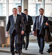 Statsminister Stefan Löfven i riksdagen idag. Janerik Henriksson/TT / TT NYHETSBYRÅN