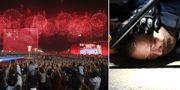 Peking firar 70-årsdagen/demonstrant i Hongkong. TT