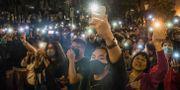Väljare i Hongkong. DALE DE LA REY / AFP