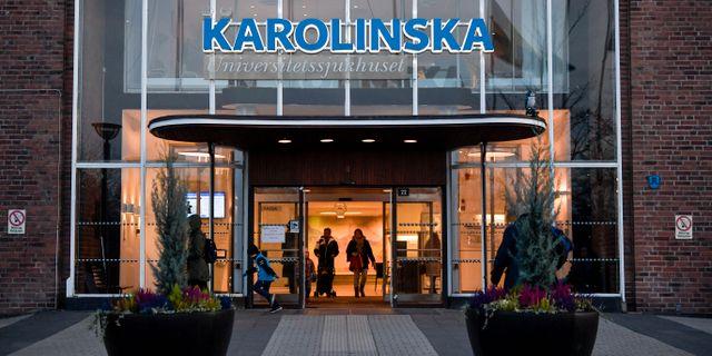 Karolinska sjukhuset i Solna. Pontus Lundahl/TT / TT NYHETSBYRÅN