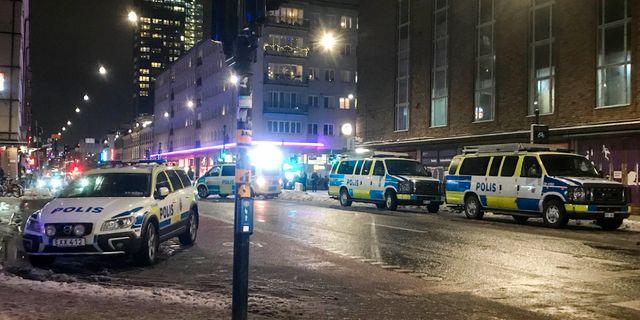 Trafikolycka i centrala stockholm