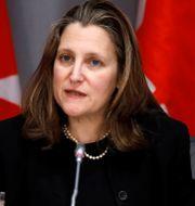 Kanadas vice premiärminister Chrystia Freeland.  BLAIR GABLE / TT NYHETSBYRÅN