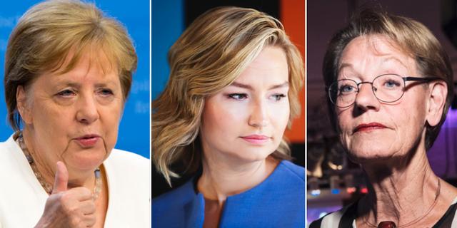 Angela Merkel, Ebba Busch Thor och Gudrun Schyman. TT