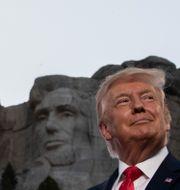Donald Trump vid Mount Rushmore Alex Brandon / TT NYHETSBYRÅN