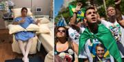 Jair Bolsonaro från sjukhussängen/anhängare hyllar Bolsonaro TT