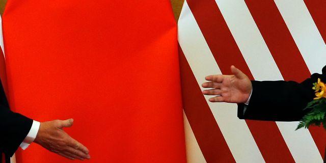 Arkivbild. USA:s president Donald Trump och Kinas president Xi Jinping träffades i Peking i november 2017.  Andy Wong / TT NYHETSBYRÅN