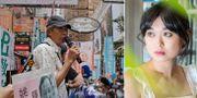 Demonstration för Gui Minhai/hans dotter Angela Gui. TT