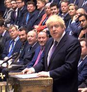 Brittiska underhuset under fredagen. HO / AFP