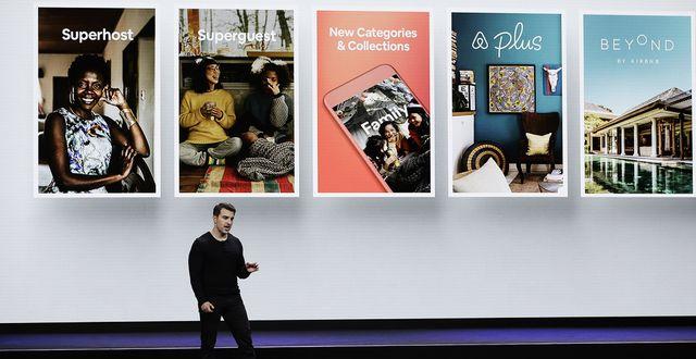 Airbnbs vd Brian Chesky.  Eric Risberg/TT