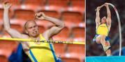 Martin Eriksson under friidrotts-VM 2001 och OS 2000. Bildbyrån