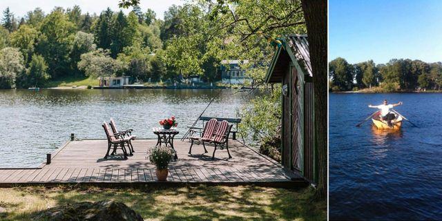 Det är ingen dålig ö i Mälaren som Fredrik Härén lånar ut till idésprutor. Ideas Island