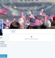 Trumps Twitterkonto innan det ändrades Washington Posts skärmdump