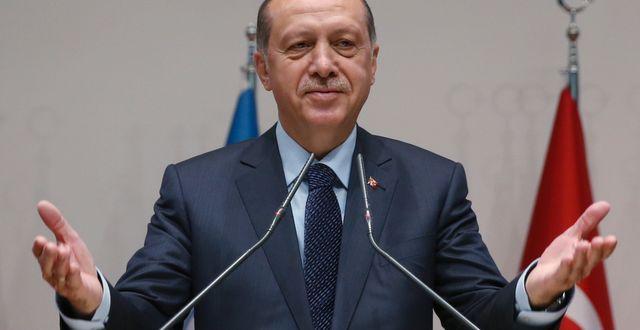 Turkiets president Recep Tayyip Erdogan. STF / TT / NTB Scanpix