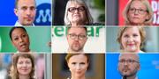 Svenska toppkandidater till EU-parlamentet. TT