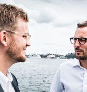 Hjalmar Ståhlberg Nordegren, grundare av matsvinnsappen Karma och Georgi Ganev, vd för Kinnevik. Magnus Hjalmarson Neideman/SvD/TT / TT NYHETSBYRÅN