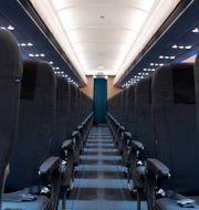 Illustrationsbild på passagerartomt flygplan. Jessica Gow/TT / TT NYHETSBYRÅN