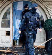 Polis i Tyskland genomför en razzia under måndagen. Marcel Kusch / TT NYHETSBYRÅN