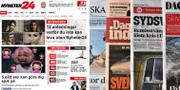 Nyheter 24 och stora svenska dagstidningar. TT