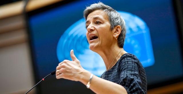 EU:s konkurrenskommissionär Margrethe Vestager.  Francisco Seco / TT NYHETSBYRÅN