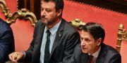 Matteo Salvini/Giuseppe Conte. Gregorio Borgia / TT NYHETSBYRÅN