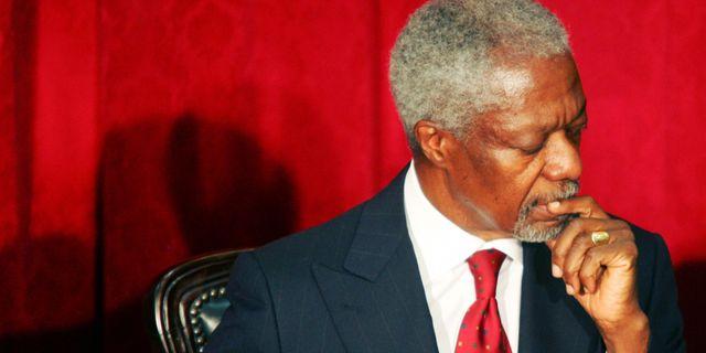 Arkivbild. Annan under samtal mellan Kenyas president och oppositionen, 2008. SIMON MAINA / AFP