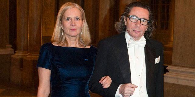 Frostenson och Arnault inför Nobelmiddagen 2011. HENRIK MONTGOMERY / TT / TT NYHETSBYRÅN