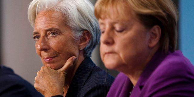 Illustrationsbild: ECB-chefen Lagarde och Merkel.  Markus Schreiber / TT NYHETSBYRÅN