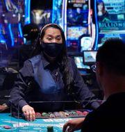 Anställd på MGM:s berömda kasino Bellagio i Las Vegas. Arkivbild. John Locher / TT NYHETSBYRÅN