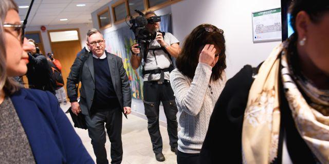 Åsa Waldau på väg in i rättssalen i Uppsala i januari. Fredrik Sandberg/TT / TT NYHETSBYRÅN