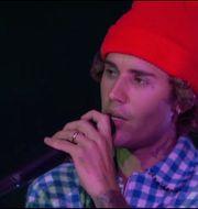 Justin Bieber vid American Music Awards 2020, i Los Angeles.  TT NYHETSBYRÅN