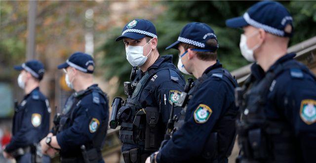 Arkivbild, poliser i Sydney. Rick Rycroft / TT NYHETSBYRÅN