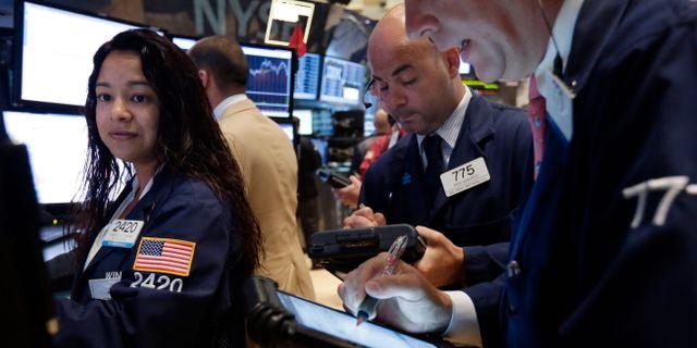 Arkivbild: På Wall Street. Richard Drew / TT NYHETSBYRÅN