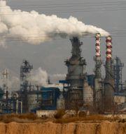 Kinesiskt kolkraftverk. Olivia Zhang / TT NYHETSBYRÅN