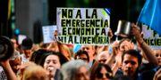 Illustrationsbild: Motståndare till president Alberto Fernandez under en demonstration i Buenos Aires.  RONALDO SCHEMIDT / AFP