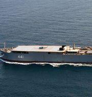 Det iranska fartyget passerar Bornholm. TT NYHETSBYRÅN