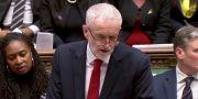Jeremy Corbyn i det brittiska parlamentet.  Reuters TV / TT NYHETSBYRÅN