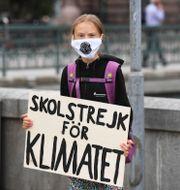 Isabella Lövin (MP)/Klimataktivisten Greta Thunberg. TT