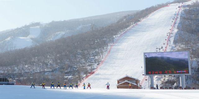 Om en knapp månad är det dags för vinter-OS i Sydkorea, men det hindrar inte grannen i norr från att försöka stjäla en del av uppmärksamheten – med en ny skidort. Wikicommons