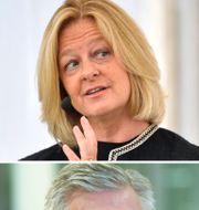 Telias vd Allison Kirkby och Ericssons vd Börje Ekholm. Båda börsjättarna rapporterar i veckan.