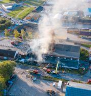 Branden i Hörby. Johan Nilsson/TT / TT NYHETSBYRÅN