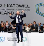Ordföranden för mötet Michal Kurtyka.  JANEK SKARZYNSKI / AFP
