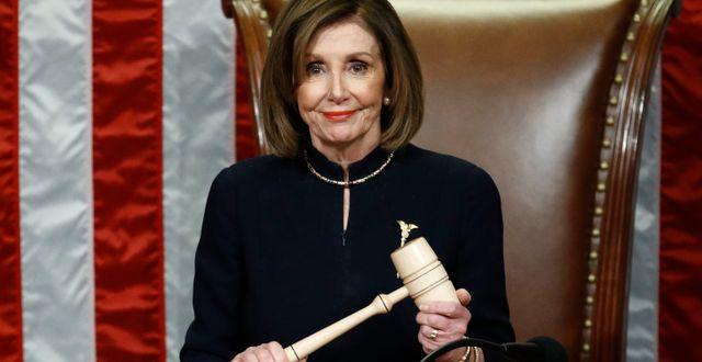 Arkivbild: Nancy Pelosi, representanthusets talman och demokrat. Patrick Semansky / TT NYHETSBYRÅN