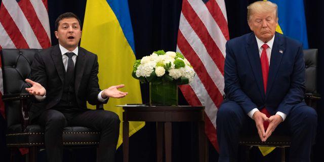 Volodymyr Zelenskyj och Donald Trump. Arkivbild. SAUL LOEB / AFP
