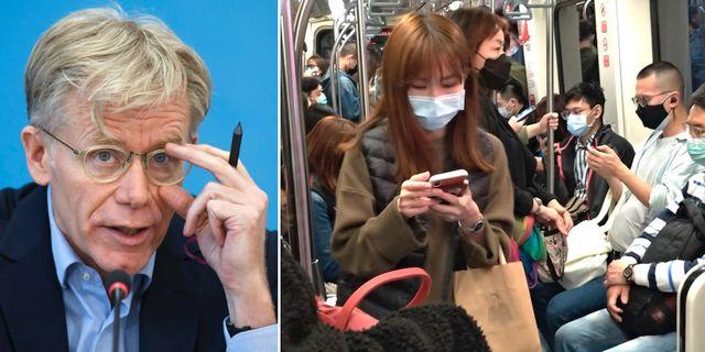 Bruce Aylward/Människor i Taipeis tunnelbana. TT