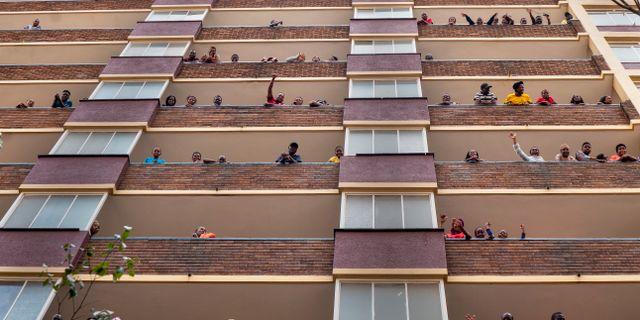Johannesburgbor i karantän. Jerome Delay / TT NYHETSBYRÅN