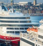 Illustrationsbild: Viking Lines fartyg Grace är ett av de fartyg som kommer att fastna i hamn om sympatistrejken bryter ut som aviserat i morgon.  LEIF R JANSSON / TT / TT NYHETSBYRÅN