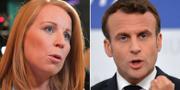Annie Lööf och Emmanuel Macron. TT