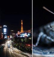 Las Vegas Strip och en gräshoppa i staden.  TT/AP.