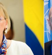 Margot Wallström och Pierre Schori. TT