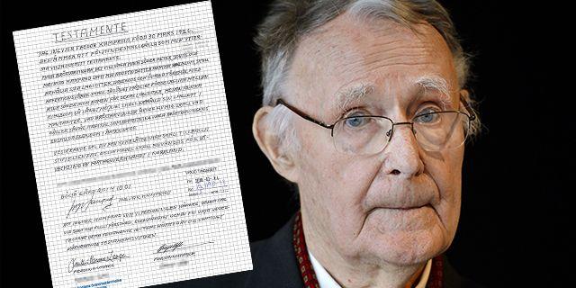 Ingvar Kamprad och det handskrivna testamentet.  TT